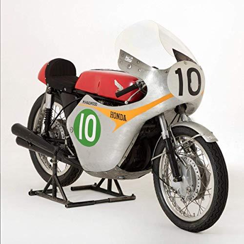 Honda RC162 1961 rennmotorrad oder motorrad grußkarte mit motor solide innen (Fahrrad Motor Benzin)