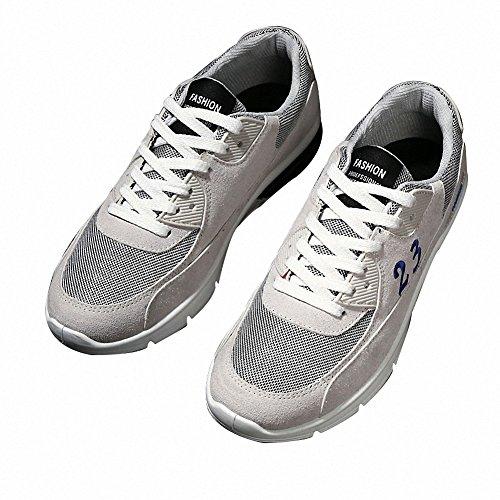 BenSportChaussures de course pour homme et femme, noir, gris, rouge gris