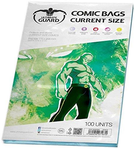 Protege y guarda los cómics hasta 17.46 x 26.67 cm (6 7/8 x 10 1/2 pulgadas) Mayor claridad 100% archivos seguros Libre de ácido, no PVC Cantidad: 100 Incluye: 100 bolsasPresentación: Blíster blando