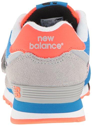 New Balance Kv574wji M Hook and Loop, Baskets Basses Mixte Enfant Multicolore (Grey/blue)