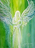 silwi-art***** Engelbilder Schutzengelbild Engel Kunstfoto/Engelkarte xl Wanddeko für Praxis Erzengel Raphael der Heiler 20 x 28 cm