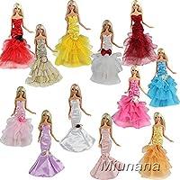 Miunana 3x Princesa Vestidos de noche Novia Ropa Hermoso Vestir de Fiesta para Barbie Muñeca -