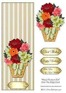 Pot de fleurs sur la carte Par Anna Babajanyan bord