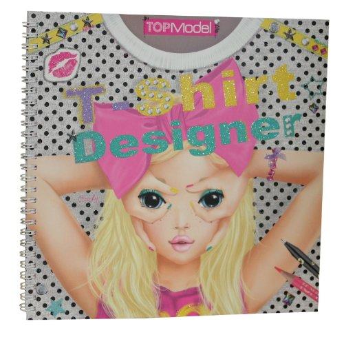 Imagen 6 de Depesche 7874 - Libro para colorear de diseños de camisetas para modelo - Top model t-shirt designer