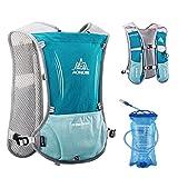 TRIWONDER Hydration Pack Rucksack 5L Marathoner Laufrennen Trinkweste (Hellblau - mit 1.5L Wasserblase)