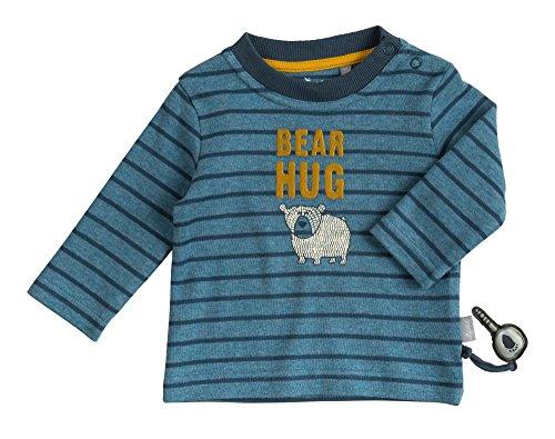 Sigikid Jungen, Baby Langarmshirt, Blau (Melange 779), 92