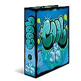 Herma 7149 Karton Motivordner DIN A4 Serie Graffiti, Design Cool, 70 mm breit, 1 Ordner, mit Innendruck