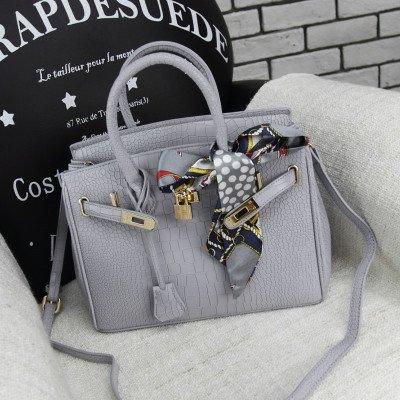 CengBao nuovo elegante Kelly pacchetto Platinum di tatuaggio coccodrillo borsa a tracolla grande pacchetto pacchetti Mini Pacchetto è una ragazza, grigio medio 25cm Grandi 30cm