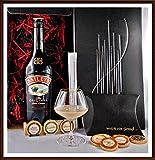 Geschenk Baileys Original Irish Cream Likör mit DreiMeister Edel Schokoladen und Glas kostenloser Versand