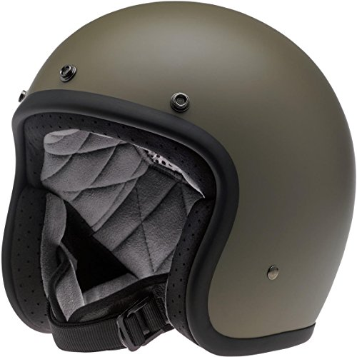 Casco Jet Biltwell Bonanza Helmet verde oliva mate L verde