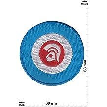 """Parches - Trojan Records - blue - Independent-Label - Patch I - Punks - No Nazi - Trojan- Parche Termoadhesivos Bordado Apliques - Patch"""""""