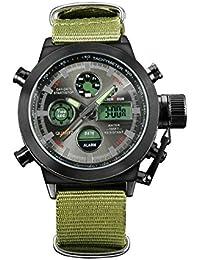 Los hombres con un movimiento nylon Shi Ying LED reloj de pulsera electrónico pantalla luminosa , black