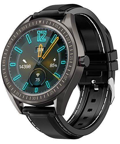 Oferta de COULAX - Reloj inteligente con pantalla táctil de 1,3 pulgadas, reloj deportivo con podómetro, frecuencia cardíaca, monitor de sueño, cronómetro, IP68, resistente al agua