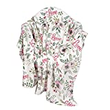 softan Manta de Lana de Franela Impresa decoración para el hogar Velvet Felpa Tiro para el día de San Valentín,130×180 cm