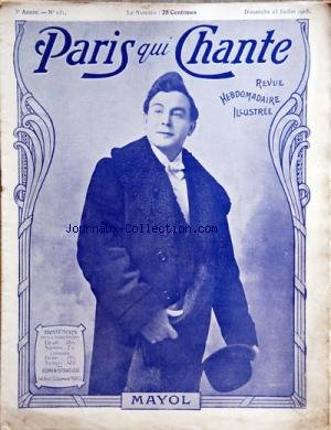 PARIS QUI CHANTE [No 131] du 23/07/1905 - M.
