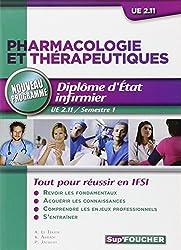 Pharmacologie et thérapeutiques D.E.I UE 2.11 Semestre 1