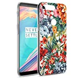 Eouine OnePlus 5T Hülle, Ultra Slim Soft TPU Muster SchutzHülle Silikon Stoßfest Bumper Case Cover für OnePlus 5T (6 Zoll) Smartphone (Bunte Blume)