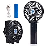 Vetoo Portable Handheld Fans, Mini Electric Fan USB Desk Fan Rechargeable Battery Powered Fan with Night Light for Home, Office, Camping and Travel