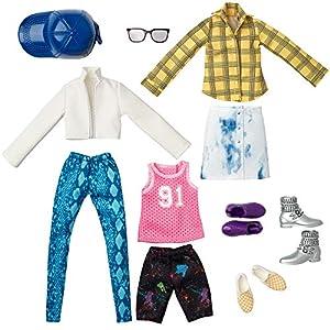 Creatable Workd Pack de Moda, Ropa para Muñeco Unisex Jersey y Cuadros (Mattel Gkv31)