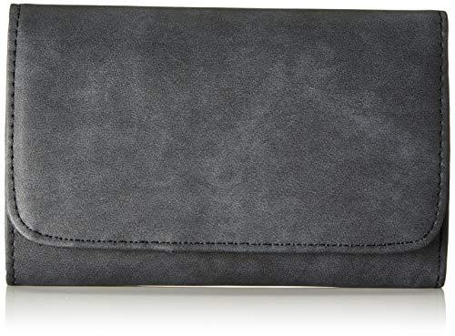 s.Oliver (Bags Damen Portemonnaie Geldbörse, Grau (Dark Stone), 3x10x16 cm