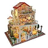 Bobbbiio DIY Casa Muñecas Miniatura Madera Luz Y La Música Trae Un Regalo Sorpresa A La Familia por La Noche para Disfrutar El Tiempo Hecho A Mano Juntos