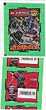 SB Lego Ninjago Sammelbilder Aufkleber Sticker (1 Päckchen mit 5 Karten)