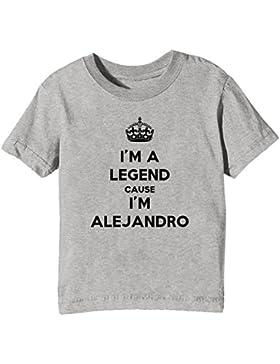 I'm A Legend Cause I'm Alejandro Bambini Unisex Ragazzi Ragazze T-Shirt Maglietta Grigio Maniche Corte Tutti Dimensioni...