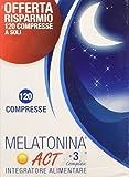 Linea ACT - Melatonina ACT + 3 Complex - Integratore Alimentare a base di Melatonina - 120 compresse