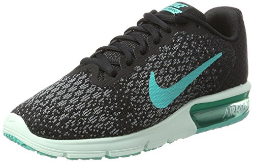 Nike Damen Wmns Air Max Sequent 2 Laufschuhe, Schwarz (Noir/Gris Froid/Anthracite/Jade Transparent), 39 EU