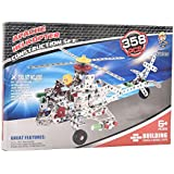 IGP Apache Helicopter Construction Set 358 Pcs Assembly Toys For Kids Birthday Gifts For Kids