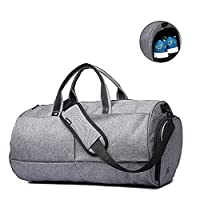 Gym Bags 22L Sports Duffels Bag Waterproof Travel Luggage Cross Body Bags with Shoes Compartment for 17