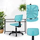 n.b.f 3 Colour Childrens Plastic Adjustable Office Chair with Wheels - turquoise