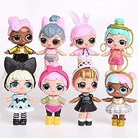 8pcs L.O.L Surprise Dolls Lovely Eyes PVC Figures Cake Topper Gift Kid Toy (8 Pcs - A)