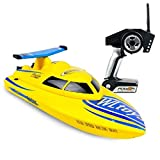 Rabing RC Boat, 4CH 2.4GHz High Speed 15mph Electric RC Boat for Pools