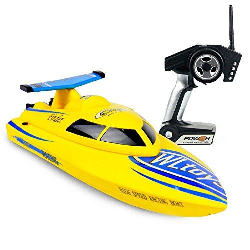 Rabing 4CH 2.4GHz High Speed 15mph Electric RC Boat para Piscinas, Lagos y...