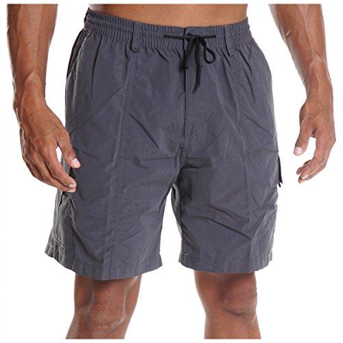Herren Cargo Bermuda Hose kurz Shorts Sommer Gürtel Pasteur Capri Casual H2079, Größe:L;Farbe:Blau (Cargo-short Eingestellt)