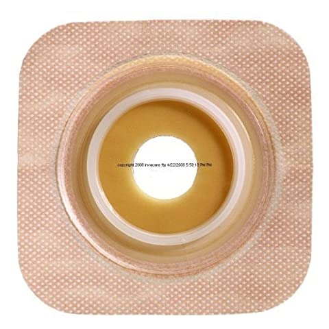 Convatec Sur-fit Natura Flexible Skin Barrier - Box Of 10 - Model 125269 Tan/Beige - Flange/Pouch: 1 3/4 - Pre-Cut: 3/4 Barrier Size: 4 x 4 by Sur-Fit