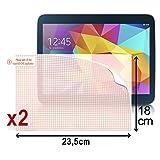 Seluxion - Pack de 2 Films de Protection d'écran à découper (dimmensions 23,5cm x 18cm), Films Universel L pour Tablette Logicom L-ixir Tab 1046 HD 10.1'
