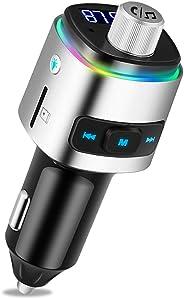 FM Transmitter Auto Bluetooth Kfz Radio Adapter mit QC 3.0 5V/5.4A Dual USB Ladegerät für Handy
