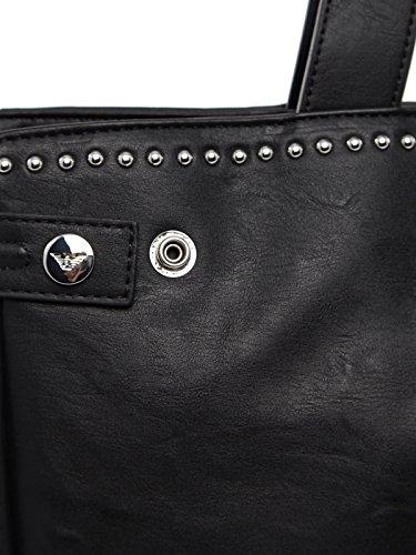 Armani Jeans Studded Femme Handbag Noir Noir
