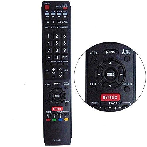 New gb118wjsa Smart TV Ersatz-Fernbedienung für Sharp AQUOS TV gb005wjsa gb004wjs ga890wjsa lc60C6600u lc60eq10u lc60eq30u lc60le660u lc70eq10u lc-70eq30u lc70sq17u lc-70sq17u lc80uq17u (Aquos Sharp Remote 60)