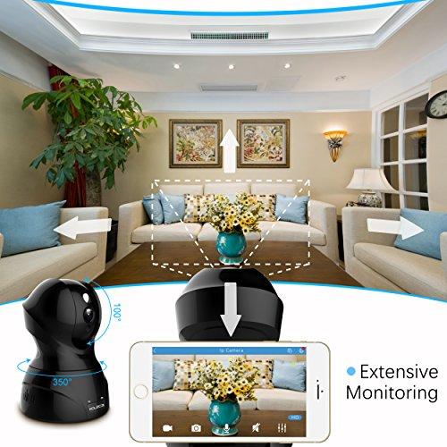 1080P HD Wireless Wlan/Wifi IP Kamera Überwachungskamera 2MP Aoleca Zweiwege-Audio Indoor Kabellose Security IP Cam Home Baby Monitor Mit Bewegungserkennung - 3