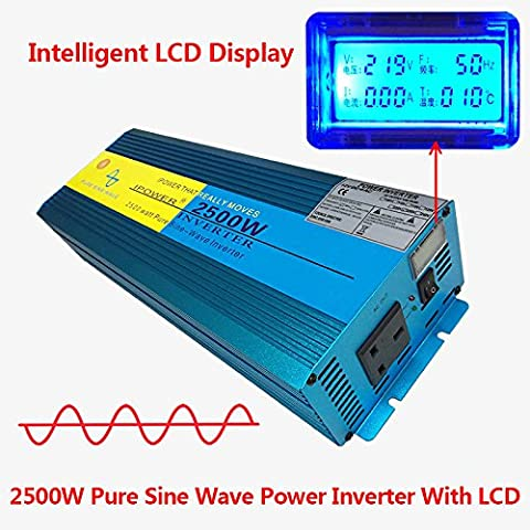 2500W/5000W picco onda sinusoidale pura power inverter dc 12V a