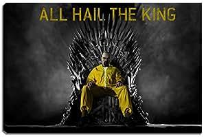 Breaking Bad, Game of Thrones photo sur toile Dimensions: 120 cm x 80 cm . Impression d'art de haute qualité comme une fresque. Moins cher qu'une peinture à l'huile! ATTENTION! Aucune affiche