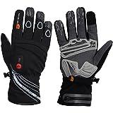 Bicicleta calefactables guantes Race, color negro, tamaño 8 (S)