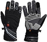 30seven Beheizbare Fahrrad-Handschuhe Race | Handschuhe Motorrad Airsoft Paintball | Handschuhe Winter | Vollfinger-Handschuhe | Downhill-Handschuhe | lange Heizdauer