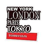 JOllify Aufkleber - TORREVIEJA – Farbe: Design: New York, London, Paris, Tokyo