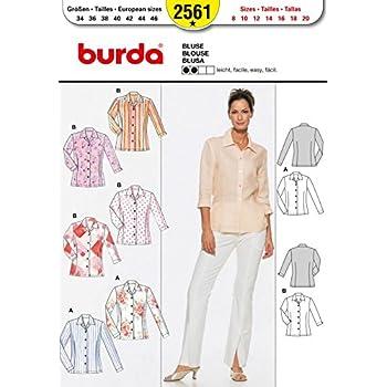 Burda Nähmuster 2561, Bluse, Größe: One Size: Amazon.de: Küche ...