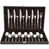 Shapes Eon 24 Pieces Stainless Steel Laser Designed Culery Set with Gift Box- Multicolour