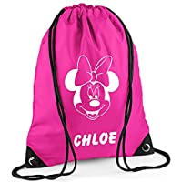 Personalised Minnie Mouse style Duffle/Drawstring Bag - *Choice of colours* By Mayzie Designs®
